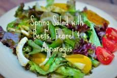 Beet Fennel Asparagus Salad
