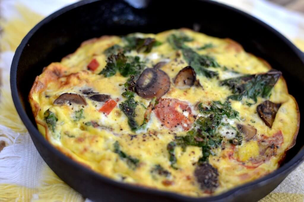 Frittata with Vegetables, Grains and Herbs