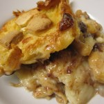 White Choc Croissant Bread and Butter Pudding