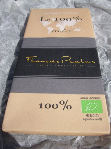 Pralus 100% Cocoa Chocolate Bar - www.foodnerd4life.com