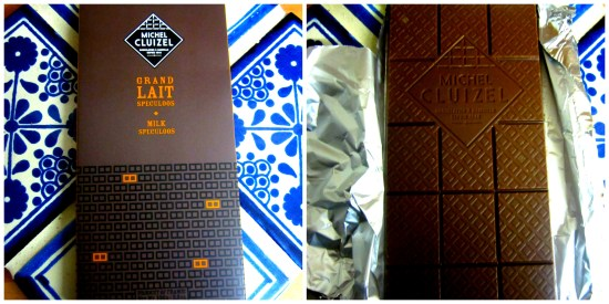 Michel Cluizel Grand Lait Speculoos Chocolate Bar - www.foodnerd4life.com