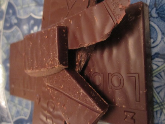 Zotter Labooko Colombia75% Chocolate Bar Unwrapped - www.foodnerd4life.com