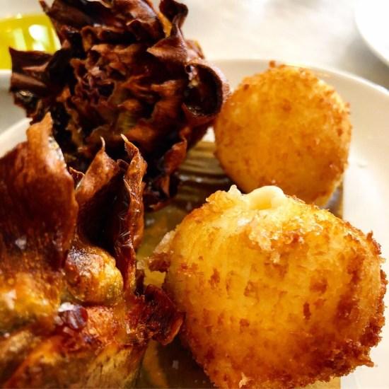 Fried Artichokes and Mozzarella Bocconcini at Bocca Di Lupo, London