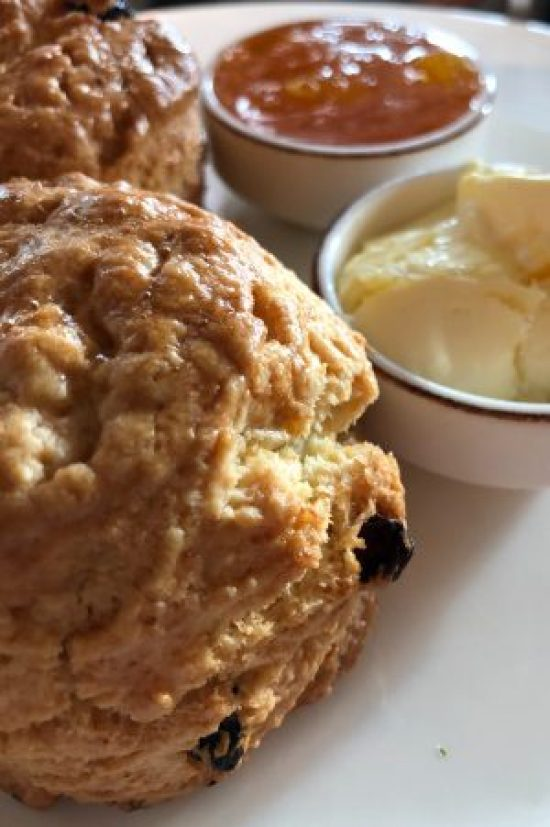 Homemade Scones with Orange Marmalade and Clotted Cream at Afternoon Tea at The Salt Room, Brighton