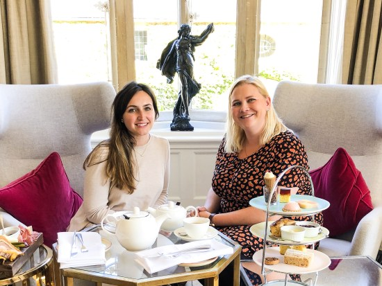 FoodNerd4Life Rachel with Carly from Bleary Eyed Baker at The Slaughters Manor House, Cotswold - foodnerd4life