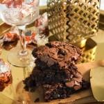 Chocolate Orange Brownies on Golden Platter