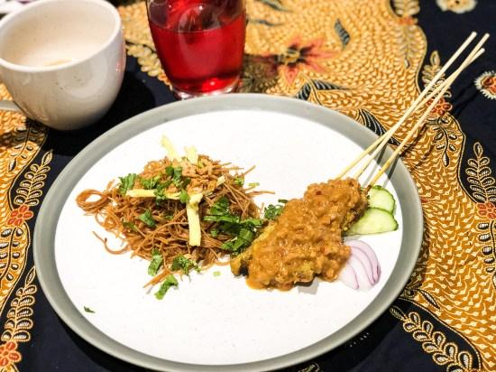 Chicken Satay with Peanut Sauce and Bihun Gorreng at Malaysian Kitchen Afternoon Tea - www.foodnerd4life.com