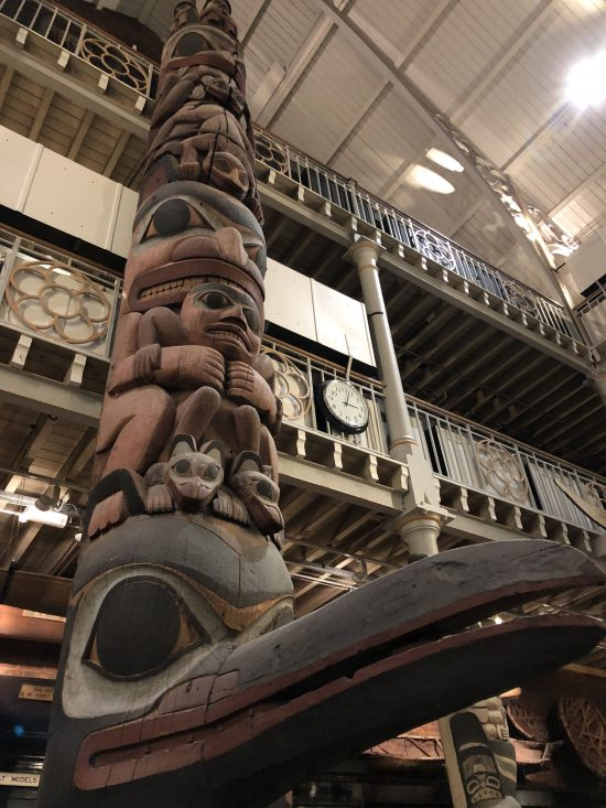 Canadian Totem Pole at Pitt Riveres Museum, Oxford - www.foodnerd4life.com