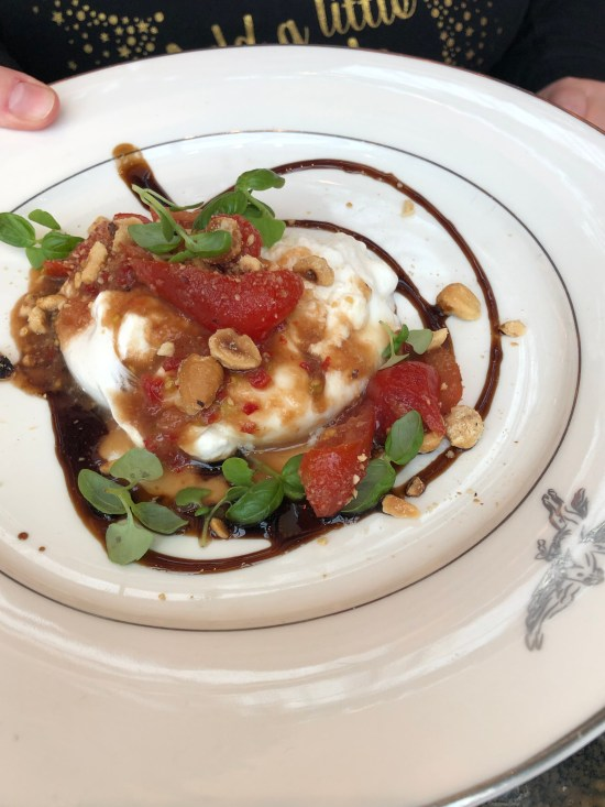 Burrata, Crushed Hazelnuts, Tomato, Quince and Aged Balsamic, Brasserie of Light, Selfridges, www.foodnerd4life.com