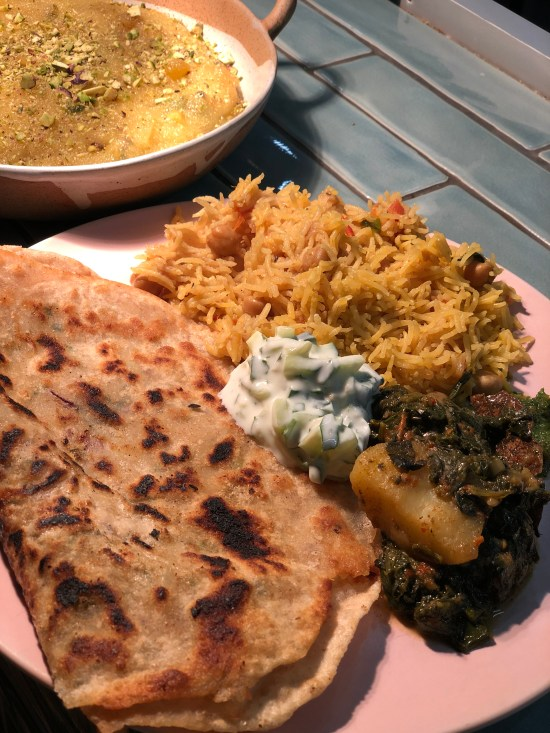 Finished Pakistani Meal at Migrateful Cookery Course www.foodnerd4life.com
