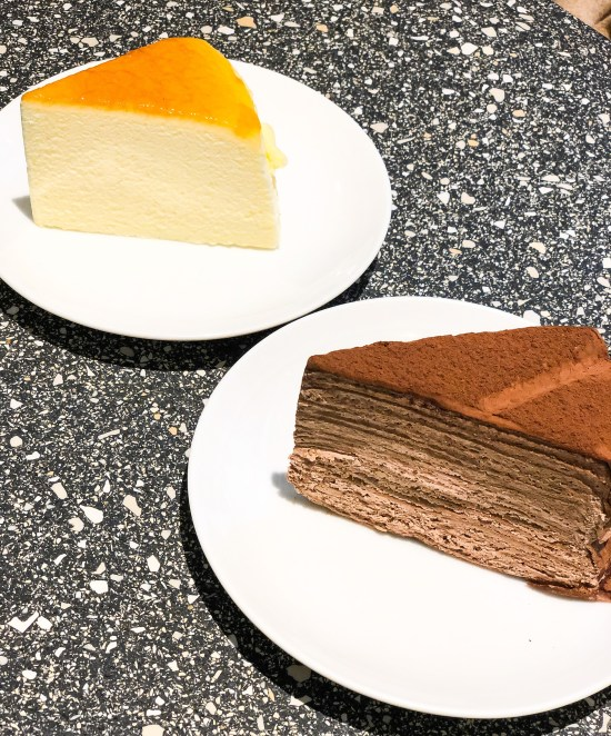 Japanese Souffle Cheesecake and the Chocolate Mille Crepes at Kova Patisserie - www.foodnerd4life.com