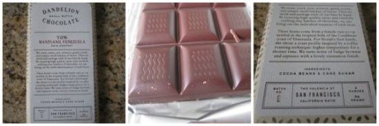 Dandelion Mantuano Venezula Chocolate Bar