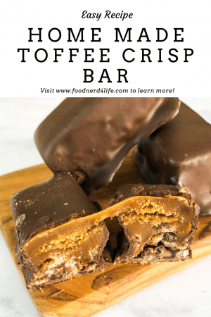 Home Made Toffee Crisp Bar Whole