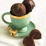 Espresso Chocolate Truffles, Cut in Half in a Cup - www.foodnerd4life.com