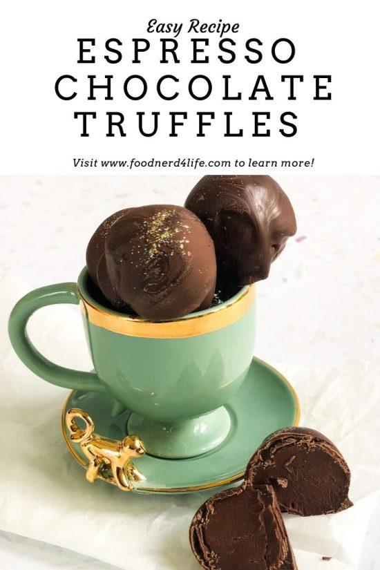 Espresso Chocolate Truffles Recipe Pin