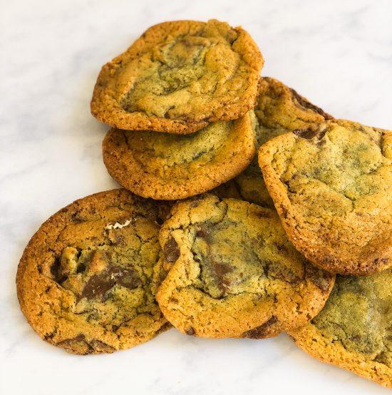 Stack of Toblerone Cookies - www.foodnerd4life.com