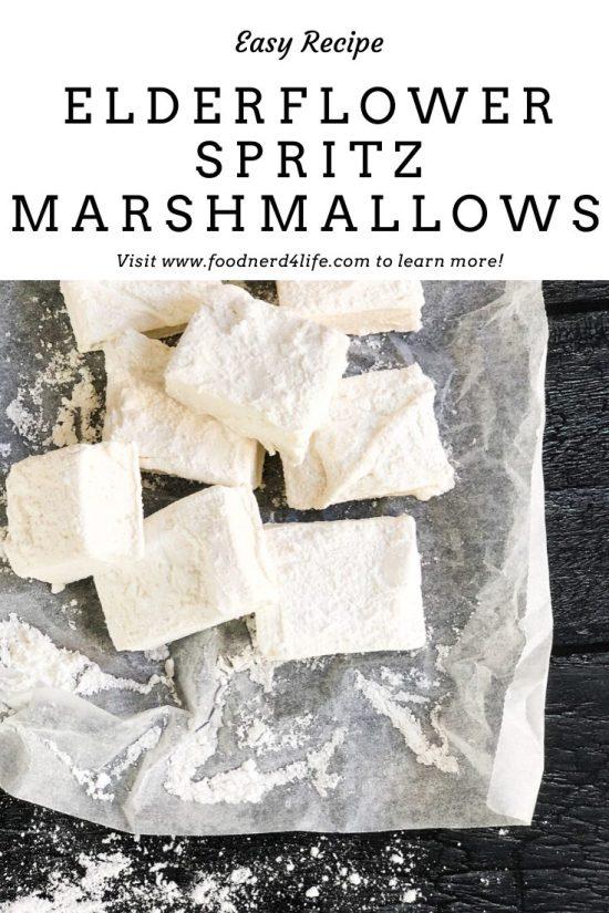 Elderflower Spritz Marshmallows Recipe Pin