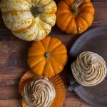 Spiced Pumpkin Cupcakes with Cinnamon Cream Cheese Frosting Recipe with pumpkins- www.foodnerd4life.com
