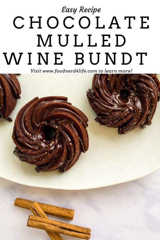 Chocolate Mulled Wine Bundt Recipe Pin