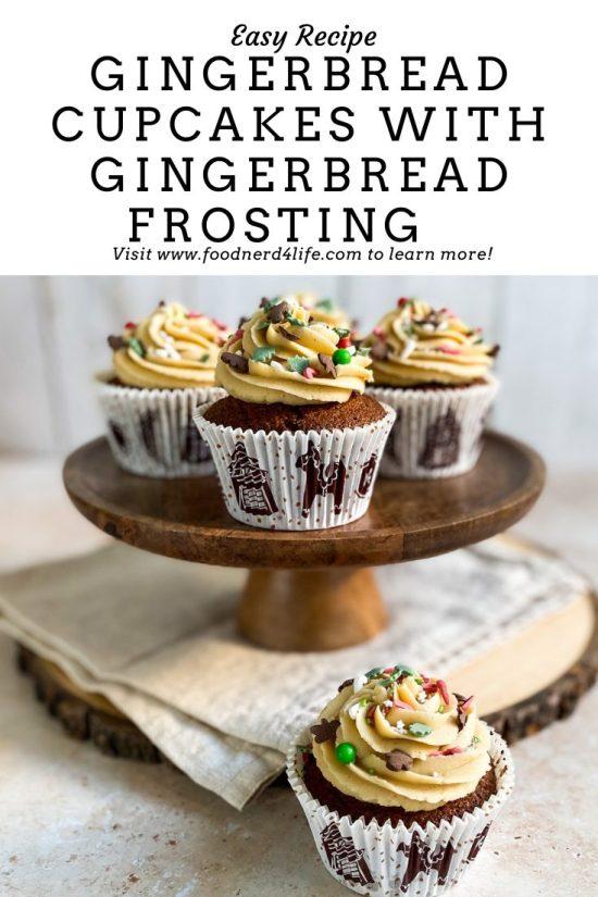 Gingerbread Cupcakes Recipe Pin