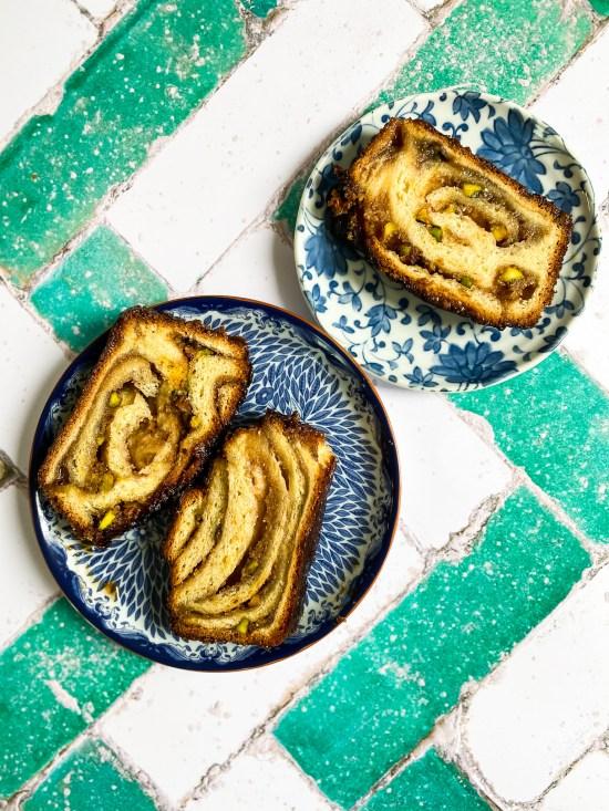 Slices of Baklava Babka Recipe - www.foodnerd4life.com