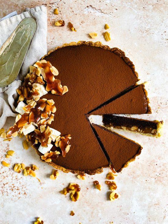 Snickers Tart Recipe - www.foodnerd4life.com