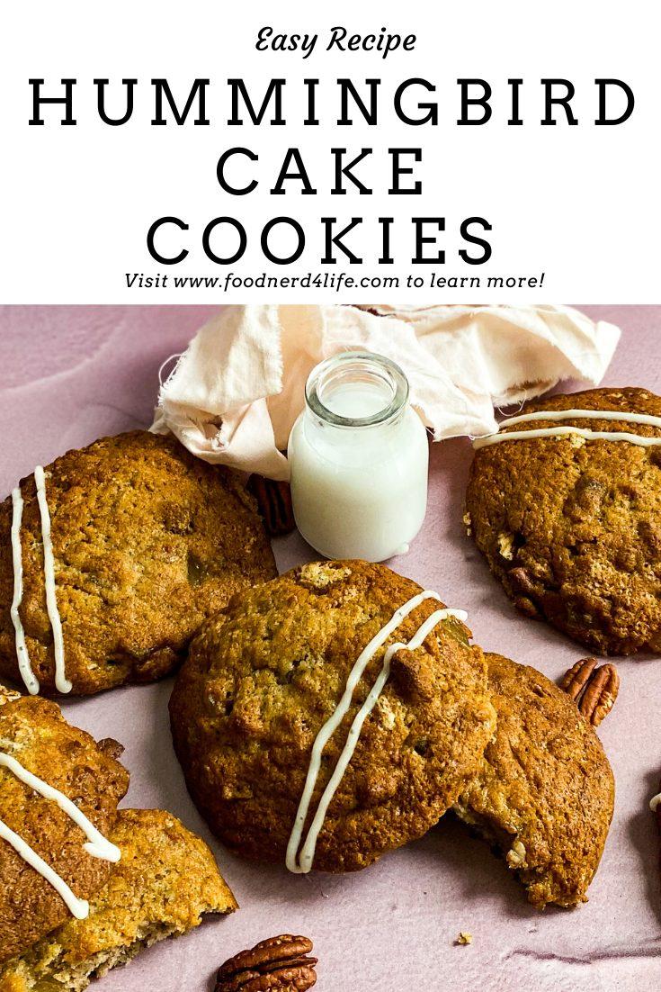 Hummingbird Cake Cookies Recipe Pin