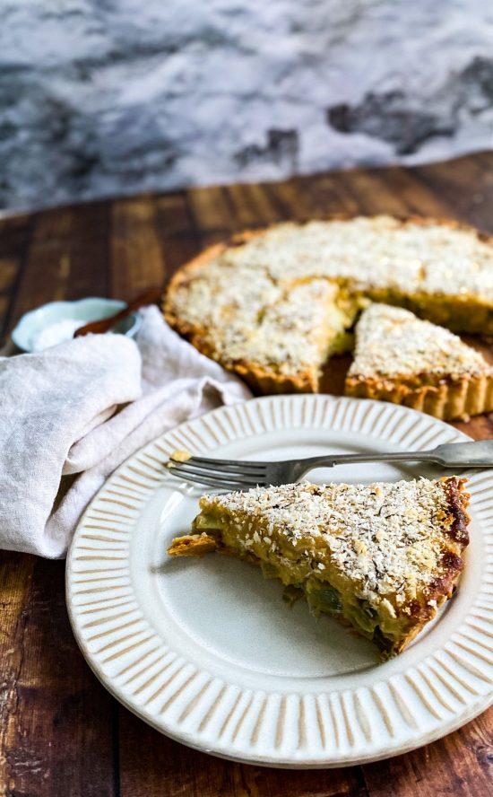 Slice of Welsh Rarebit Tart - www.foodnerd4life.com