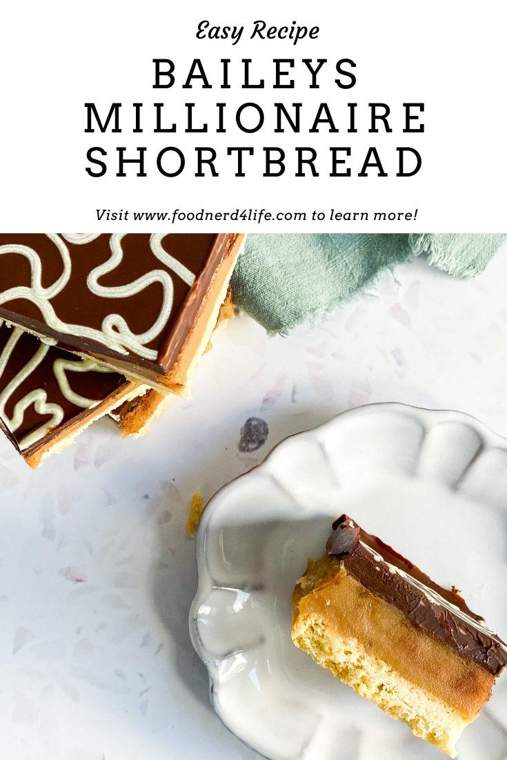 Baileys Millionaire Shortbread Recipe Pin