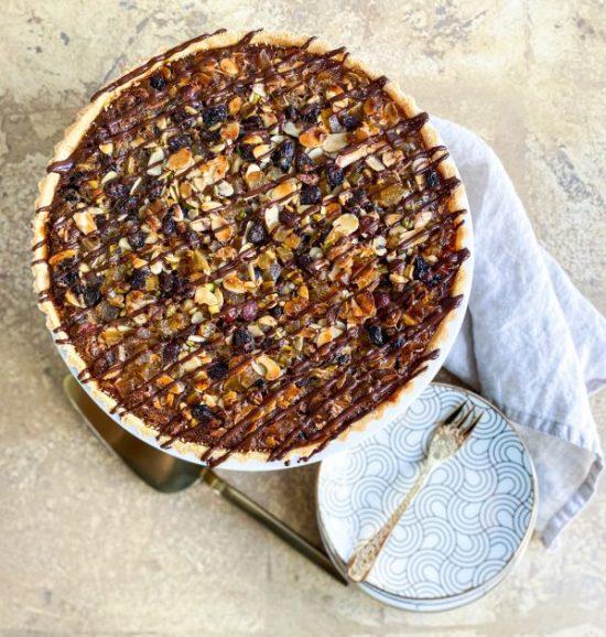 Florentine Tart Recipe Overhead View - www.foodnerd4life.com