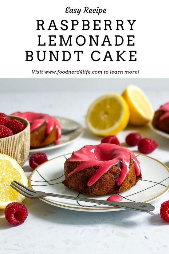 Raspberry Lemonade Bundt Cake Recipe Pin