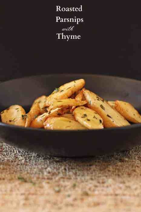 Roasted parsnips with thyme