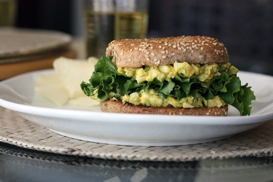 Quick Lunch: Egg Salad Bagel