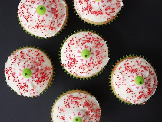Bleeding Eye Cupcakes