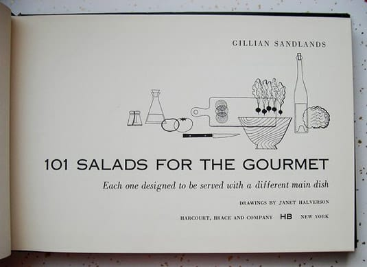 1954 Cookbook: 101 Salads for the Gourmet