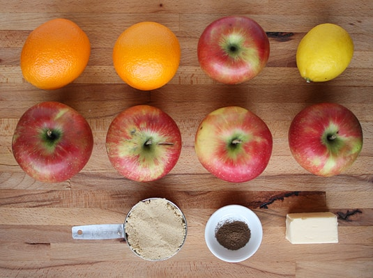 A tasty baked applesauce made with citrus fruits