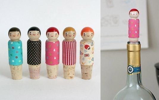 Happy Helper Wine Bottle Stopper (by The Small Object)