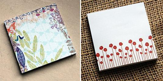 Decorative Sticky Notes (by Michelle Brusegaard)