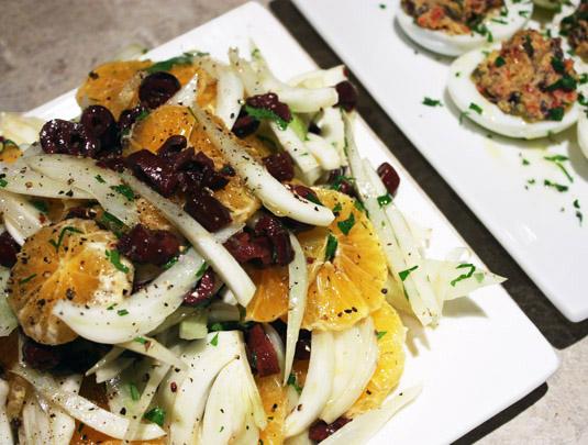Fennel, Clementine and Black Olives Salad