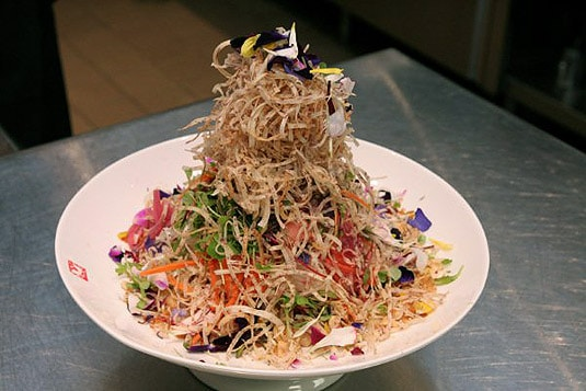 Susur Lee's Singapore Slaw, before being tossed (photo credit: Lia Chang)