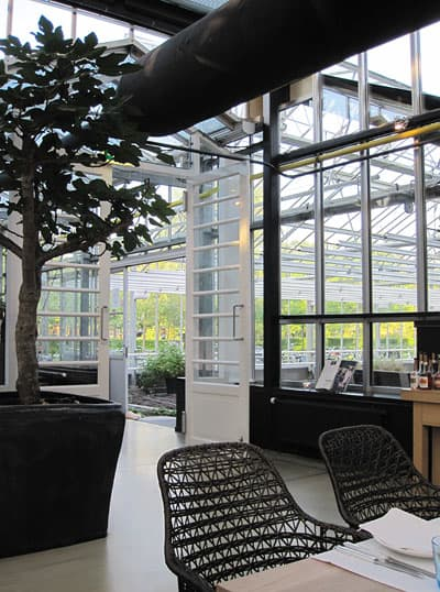 DeKas, Amsterdam: The greenhouse, seem from the main dining room.