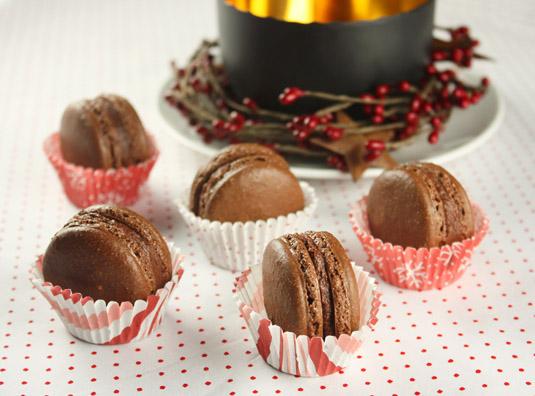 Chocolate & Chestnut Macarons