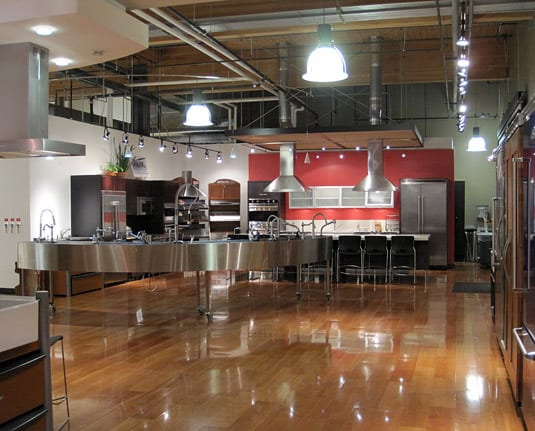 The Viking Cooking School is an impressive space to have dinner in, if only to drool over the gorgeous appliances! (Salt Lake City)