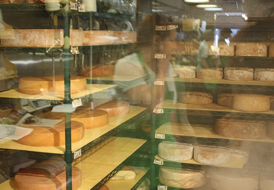 Inside Tony Caputo's Cheese Cave, Salt Lake City.
