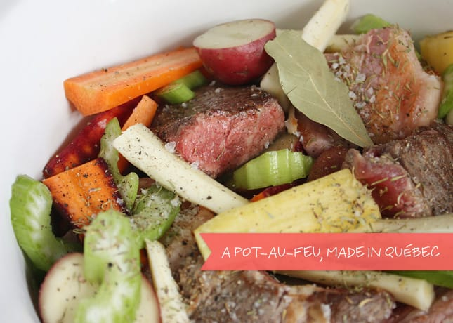 "A Classic Québécois Dish: Beef and Winter Vegetables ""Bouilli"""