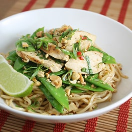 Thai Chicken Salad with Sesame Noodles