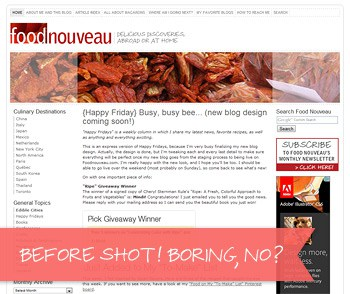 Food Nouveau, before the redesign! Boring, no?