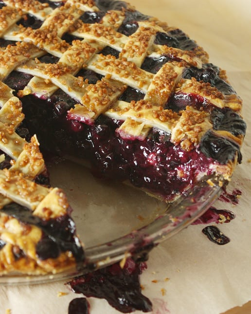 Classic Lattice-Top Wild Blueberry Pie / FoodNouveau.com