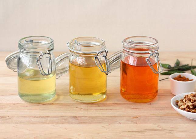 The three basic oils used in Burmese cuisine: garlic, shallot, and chili // FoodNouveau.com