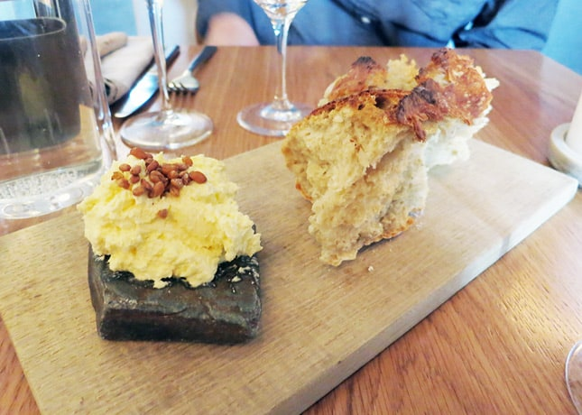 Beer bread and whipped butter at Kadeau Restaurant, Copenhagen // FoodNouveau.com